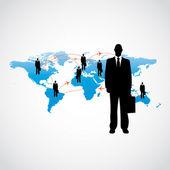 Uluslararası hava seyahat iş adamı — Stok Vektör