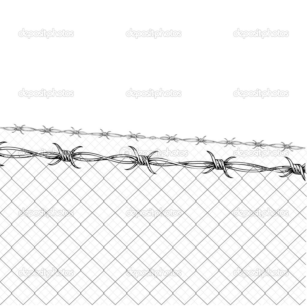 Barbed Wire Fence U2013 Stock Illustration