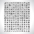 Pictograms Collection — Imagen vectorial