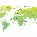 International Air Traveling — Stock Vector