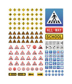 Big collection of traffic signs — Stock Vector