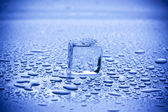 Ice Cubes and water drops — Stock Photo