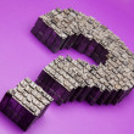 Question mark Metal Typescript — Stock Photo