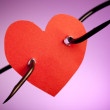 Pierced heart On Hook — Stock Photo