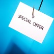 Special Offer On Hook — Stock Photo