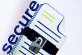 Pixels concept: security — Stock Photo