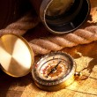 Treasure Map and compass — Stock Photo #3128147