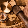 Treasure Map and compass — Stock Photo #3128185