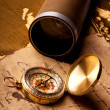 Treasure Map and compass — Stock Photo #3128471