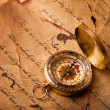 Treasure Map and compass — Stock Photo #3128492