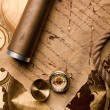 Treasure Map and compass — Stock Photo #3128504