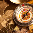 Treasure Map and compass — Stock Photo #3128573