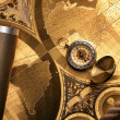 Treasure Map and compass — Stock Photo #3128624