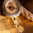Treasure Map and compass — Stock Photo #3135946