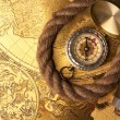 Treasure Map and compass — Stock Photo #3136002