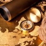 Treasure Map and compass — Stock Photo #3136014