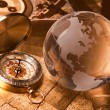 Royalty-Free Stock Photo: Treasure Map and compass