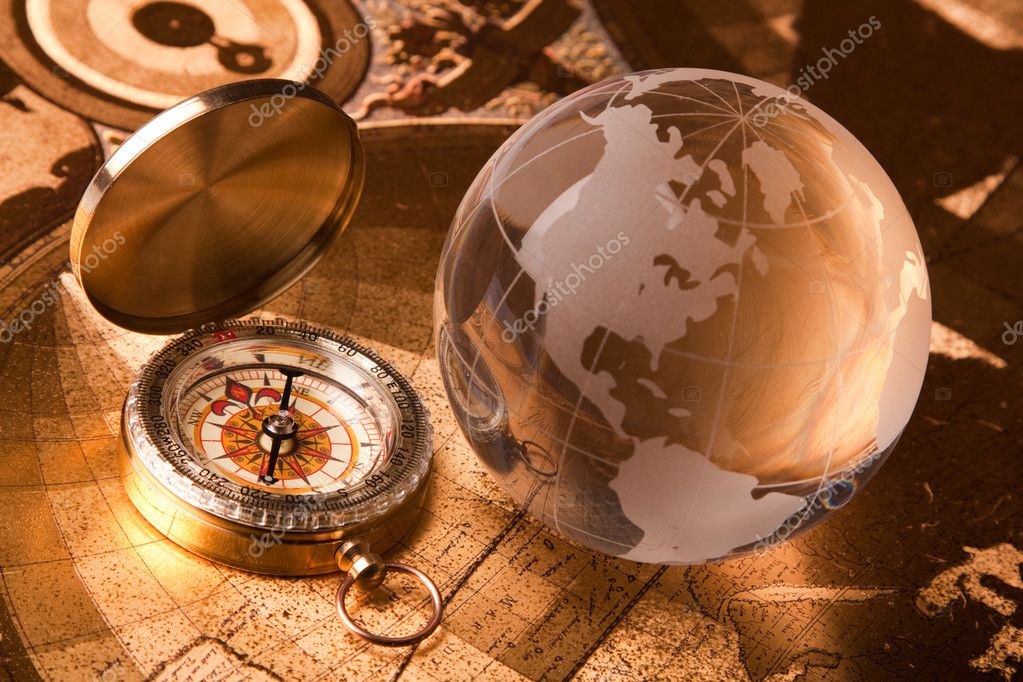 Treasure Map and compass — Stock Photo © fikmik #3136147