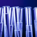 Laboratory Glassware in blue — Stock Photo #3445780