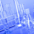 Laboratory Glassware in blue — Stock Photo #3480044