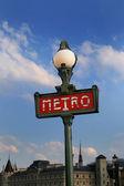 Señal de metro en parís — Foto de Stock