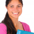 Smiling Female Student with Binder — Stock Photo