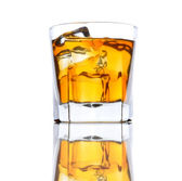 Whiskey Glass with Ice low angle — Stock Photo