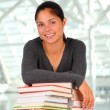 Smiling Female Student with Books — Stock Photo