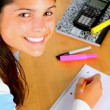 Smiling Female Student — Stock Photo