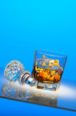 Scotch and Decanter Top — Stock Photo