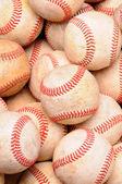 Pile of Old Baseballs — Stock Photo