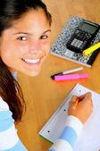Smiling Female Student — Stock Photo