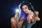 Sexy DJ — Stock Photo