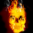 Stock Photo: Fire skull