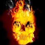 Fire skull — Stock Photo
