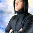 Royalty-Free Stock Photo: Man at sky