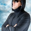 Royalty-Free Stock Photo: Man in black sunglasses