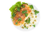 Tasty Chicken baked with pin — Stock Photo