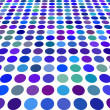 Blue color Dot Background - Stock Vector