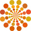 Orange color Dots — Stock Vector #2747545