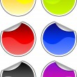Color stickers — Stock Vector