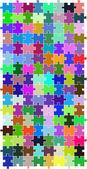 цвет головоломка — Cтоковый вектор