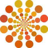 Orange color Dots — Stock Vector