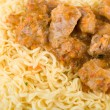 Royalty-Free Stock Photo: Close up of spaghetti and meat