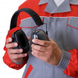 Stock Photo: Protective headphone