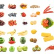 Set of fruits and vegetables — Stockfoto