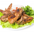 Tasty grilled chicken wings — Stock Photo