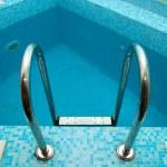 Swimming pool steps — Stock Photo #2759448