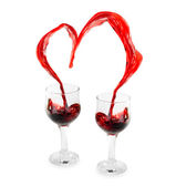 Wine Heart — Stock Photo