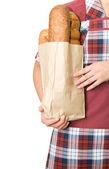Bread seller — Stock Photo